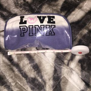 Pink cosmetics pouch